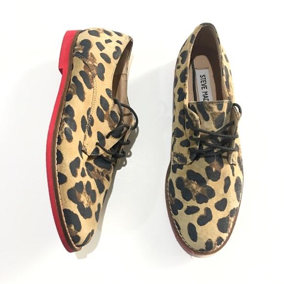 3602ecb0163b Steve Madden Jazie Cheetah Leopard Print Red Sole.  M 5a3c51a03316270b37001129